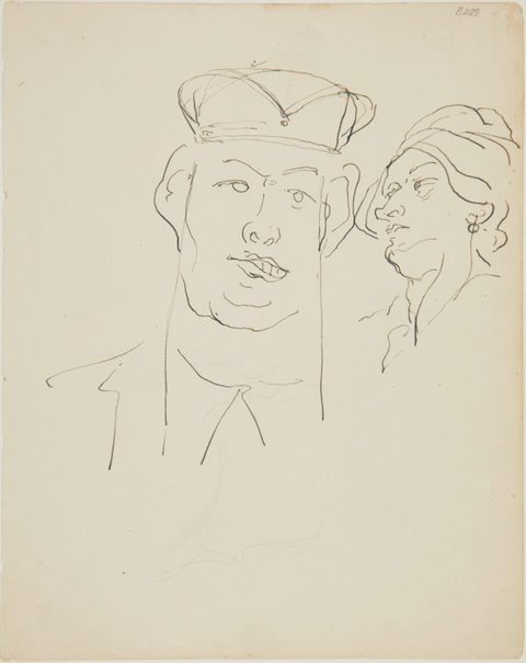 An image of (Studies of heads) (London genre) by William Dobell