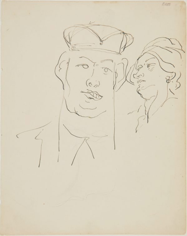 An image of (Studies of heads) (London genre)