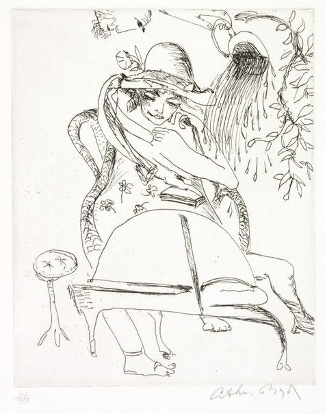 """An image of """"The water that falls upon my head"""" by Arthur Boyd"""