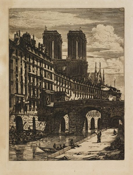 An image of The small bridge, Paris by Charles Meryon