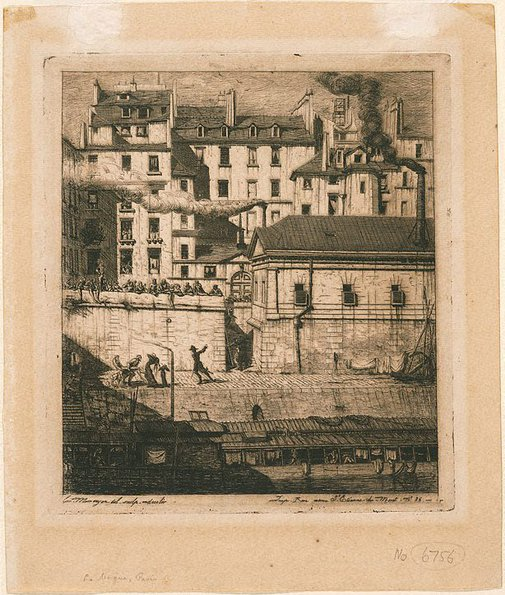 An image of The morgue, Paris by Charles Meryon