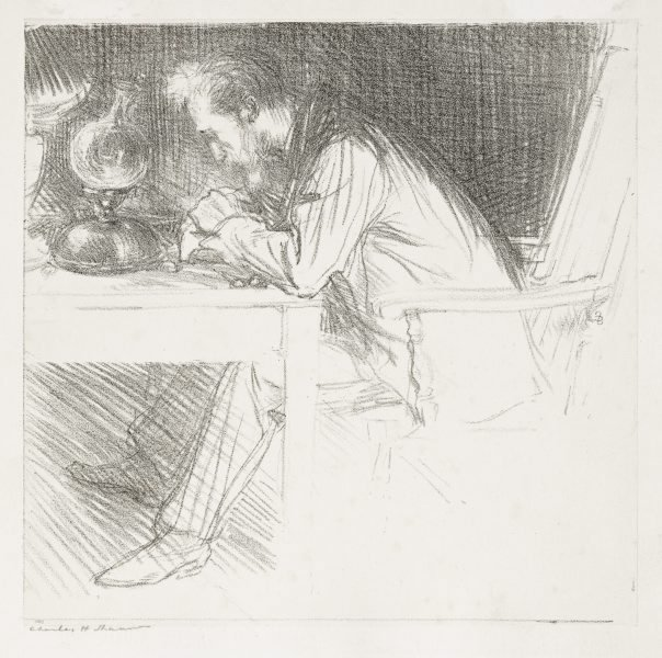 An image of The wood engraver (Charles Ricketts)
