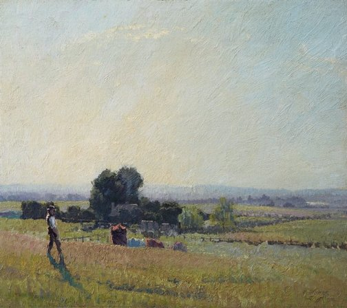 An image of Morning light by Elioth Gruner