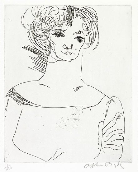 An image of The muse by Arthur Boyd