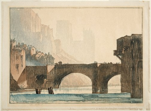An image of Durham by URUSHIBARA Yoshijirô, after Sir Frank Brangwyn