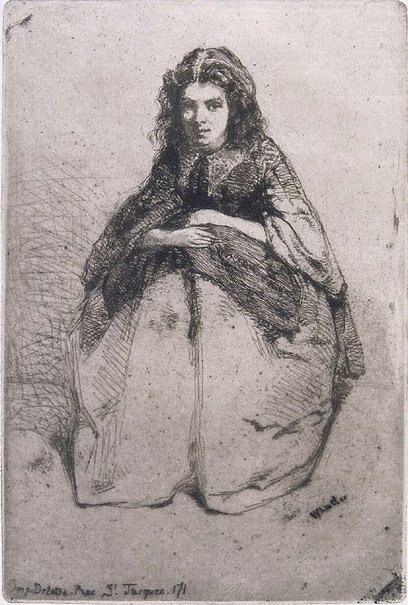 An image of Fumette by James Abbott McNeill Whistler