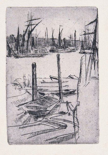 An image of The tiny pool by James Abbott McNeill Whistler
