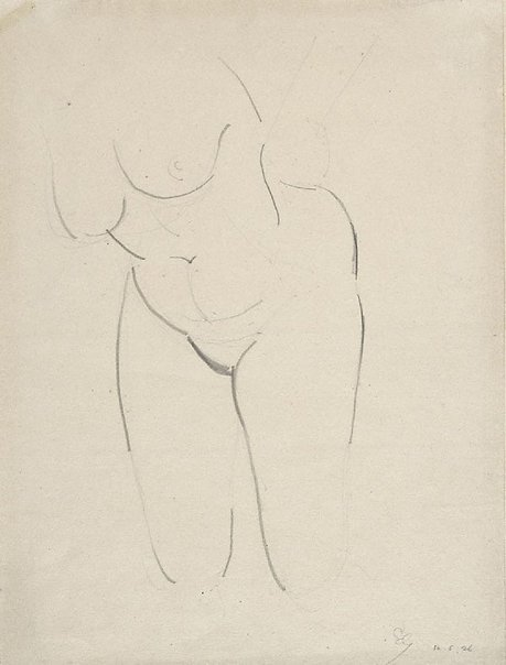 An image of Nude figure - torso by Eric Gill