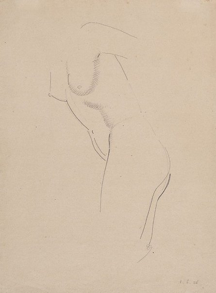 An image of Nude figure - leaning forward by Eric Gill