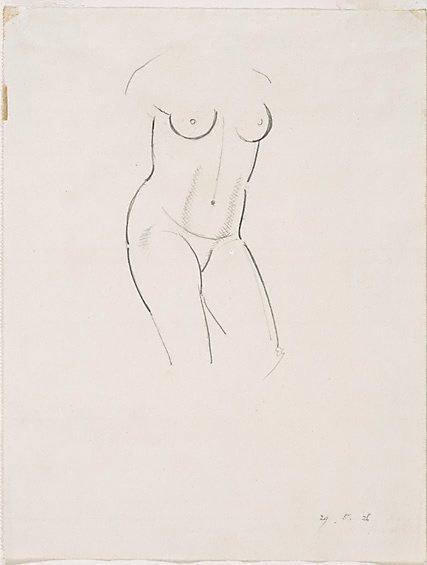 An image of Nude figure - torso