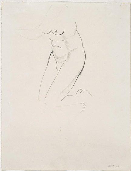 An image of Nude figure - kneeling