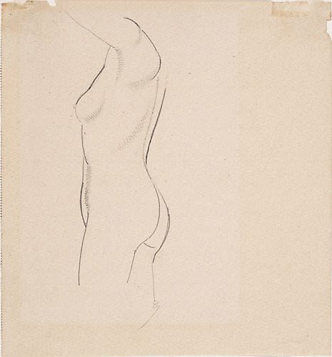 An image of Nude figure - profile left by Eric Gill