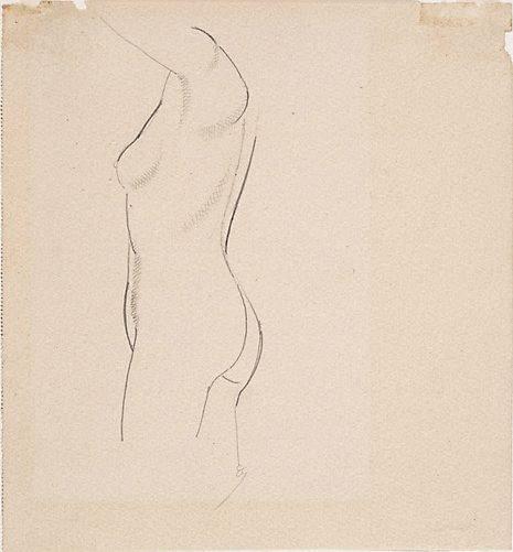 An image of Nude figure - profile left