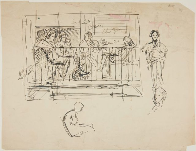 An image of (Figures on a balcony) (London genre)
