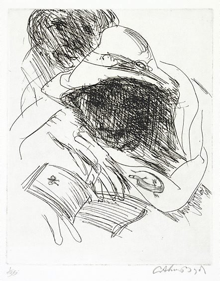 An image of Muse reading by Arthur Boyd
