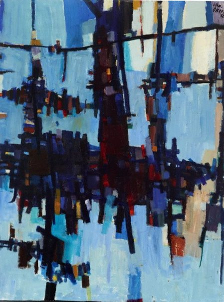 An image of Dry Salvages by John Olsen