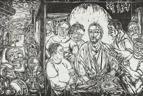 An image of The last supper at my mother's house by Salvatore Zofrea