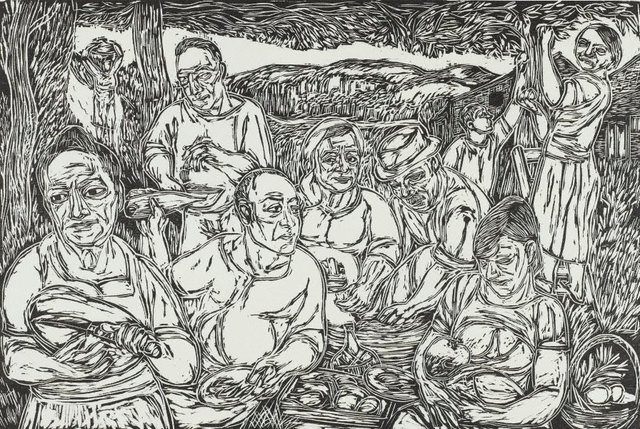 An image of Easter Monday - the picnic at my grandfather's farm