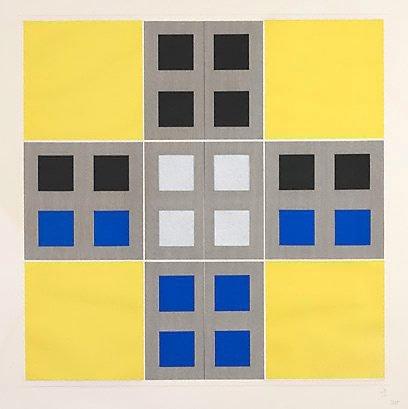 An image of (Yellow, black, blue) by Jesus-Rafael Soto