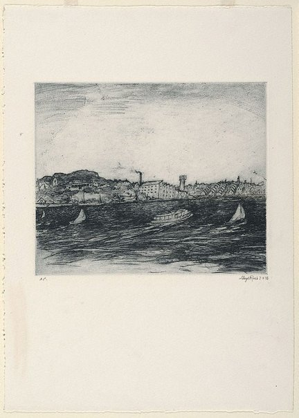 An image of Wind on the Harbour by Lloyd Rees