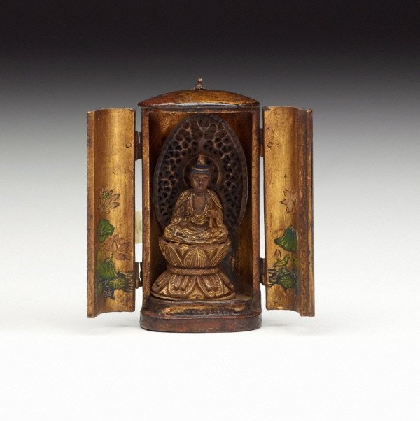 An image of Small Buddhist travelling shrine