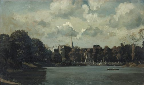 An image of Dutch Garden from the Serpentine by Algernon Newton