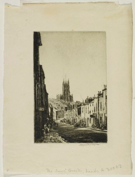 An image of The Jews' quarter, Leeds by Sir Muirhead Bone
