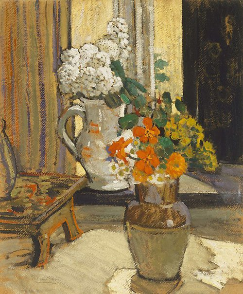 An image of Nasturtiums by Margaret Preston