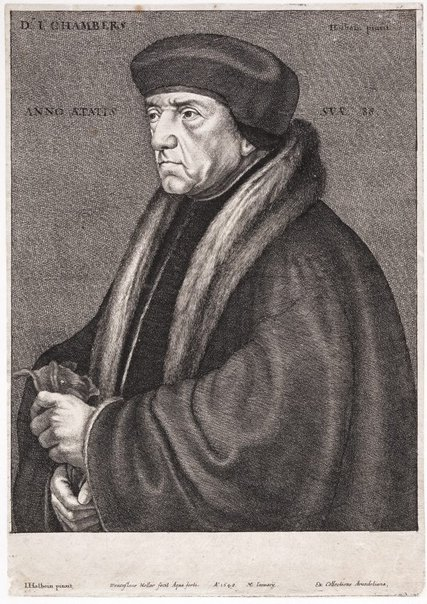 An image of Dr. Chambers by Wenceslaus Hollar, after Hans Holbein