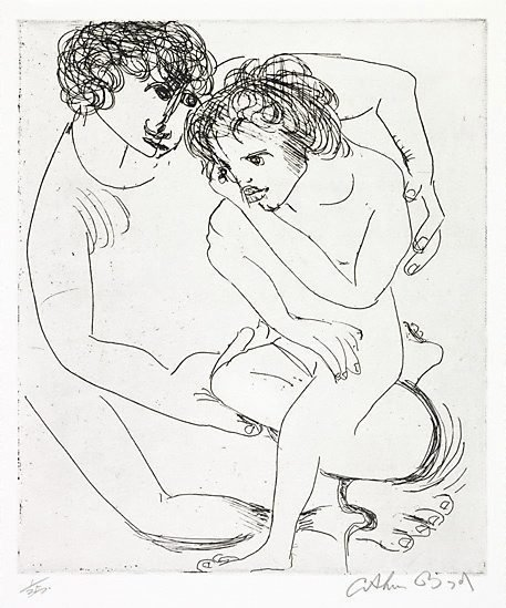 An image of Potter and muse by Arthur Boyd