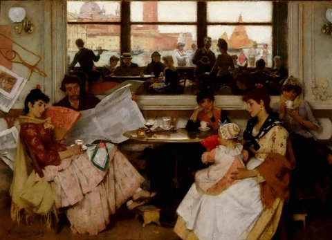Festa: a Venetian café, 1889 by Samuel Melton Fisher