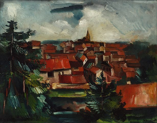 An image of The red roofs (Landscape)