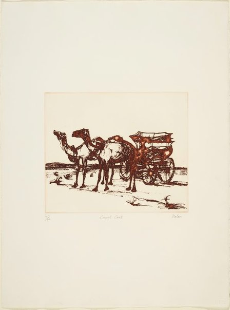 An image of Camel cart by Sidney Nolan