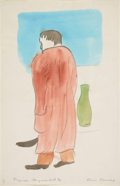 An image of Figure, Haymarket (with green vase) by Kevin Connor