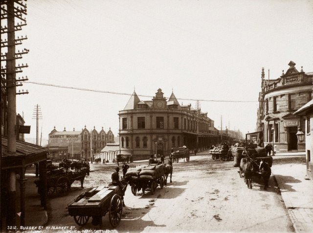 An image of Sussex Street at Market Street