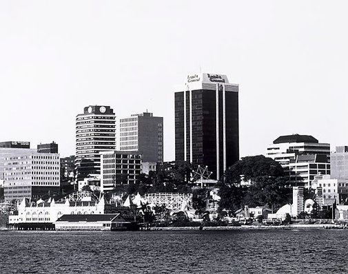An image of Port Jackson: Milsons Point 1979 by Mark Johnson