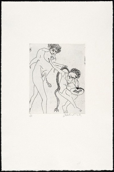 An image of Poet rejecting his muse by Arthur Boyd