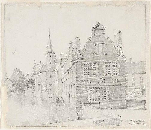 An image of Quay du Rosaire, Bruges by Mr B.J. Waterhouse