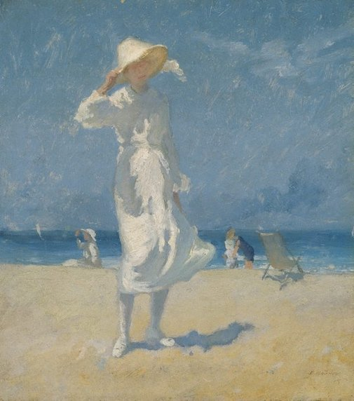 An image of Afternoon, Bondi by Elioth Gruner