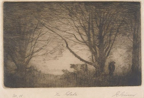An image of The glade by Elioth Gruner