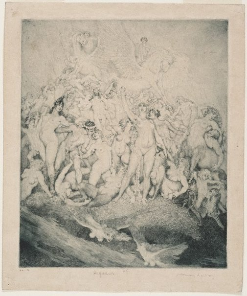 An image of Pegasus by Norman Lindsay