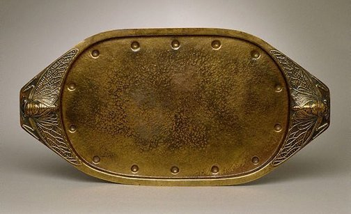 An image of Tray with cicada design handles by Elizabeth Söderberg