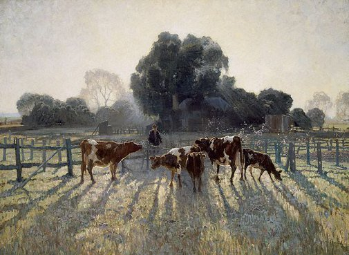 An image of Spring frost by Elioth Gruner