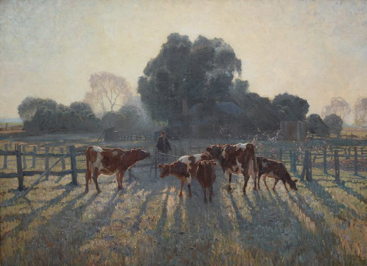 AGNSW collection Elioth Gruner Spring frost (1919) 6925