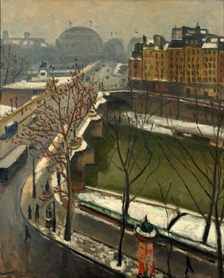 AGNSW collection Albert Marquet The Pont Neuf in the snow (late 1920s) 6927
