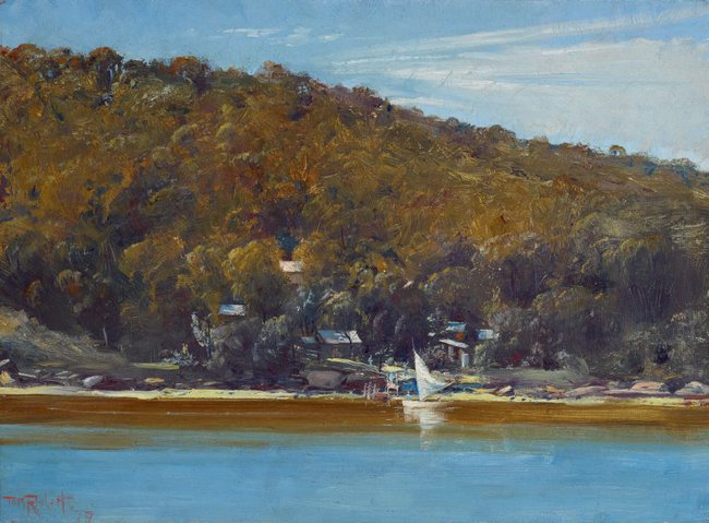AGNSW collection Tom Roberts The camp, Sirius Cove (1899) 6928