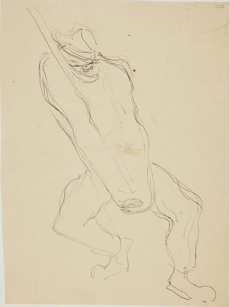 An image of (Man lifting pole) (Early Sydney period) by William Dobell