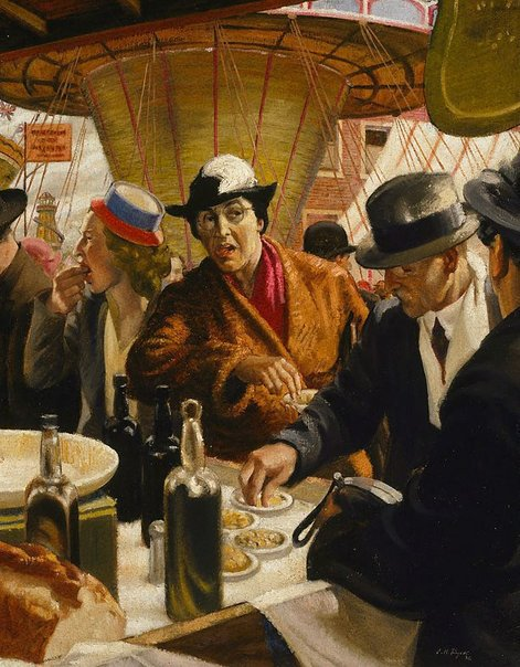 An image of The whelk stall by J. Noel Kilgour