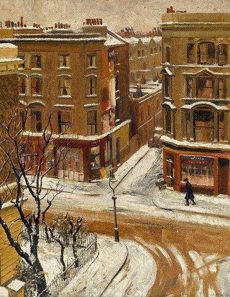 An image of Snow in London by J. Noel Kilgour