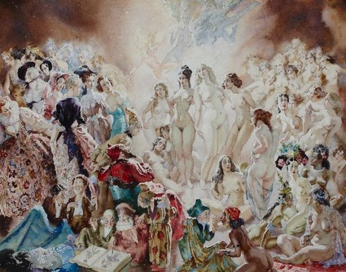 An image of Court by Norman Lindsay